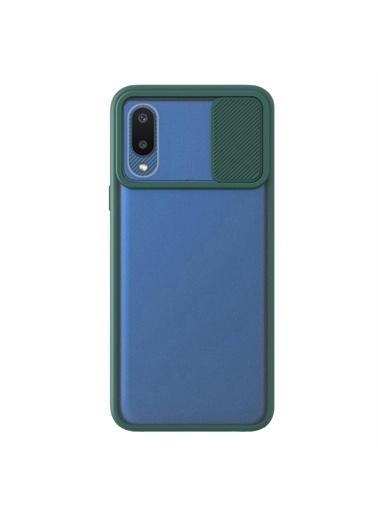 Microsonic Samsung Galaxy A02 Kılıf Slide Camera Lens Protection Kırmızı Yeşil